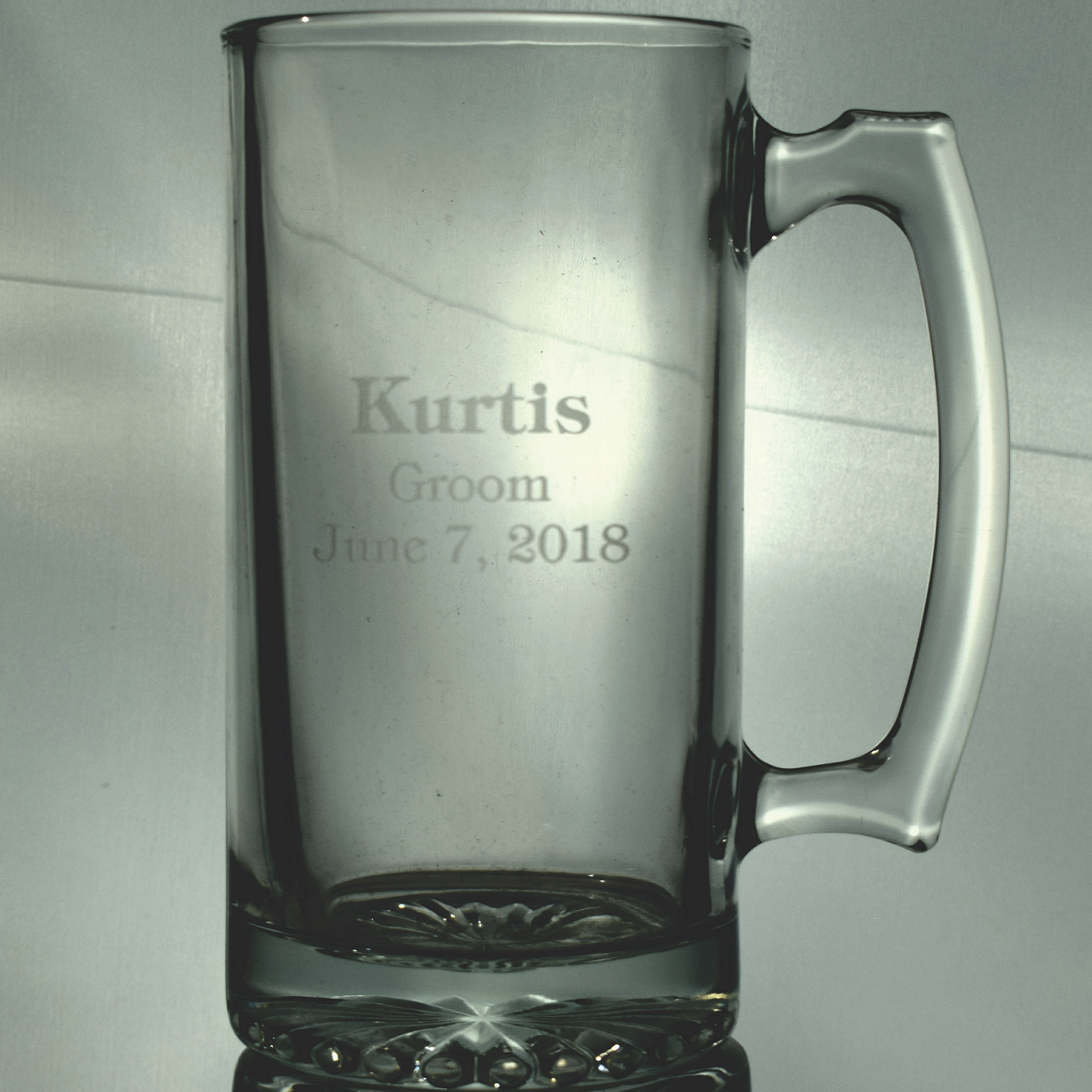 Personalized Wedding Party 26 Ounce Glass Beer Mug