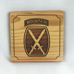 10th Mountain Division Wooden Coaster