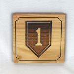 1st Infantry Division Wooden Coaster