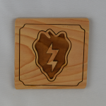 25th Infantry Wooden Coaster