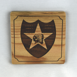 2nd Infantry Division Wooden Coaster