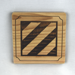 3rd Infantry Division Wooden Coaster