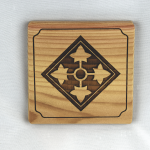 4th Infantry Division Wooden Coaster