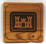 Army Corps of Engineers Wooden Coaster