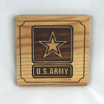 Army Insignia Wooden Coaster