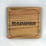 Set of 4 Marines The Few The Proud Wooden Coasters
