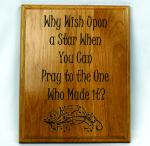 Why Wish Upon A Star Plaque