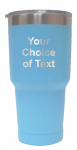 Personalized Light Blue 30 ounce vacuum insulated stainless steel tumbler
