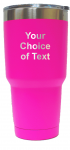 Personalized Pink 30 ounce vacuum insulated stainless steel tumbler