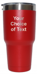 Personalized Red 30 ounce vacuum insulated stainless steel tumbler