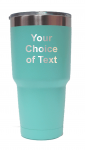 Personalized Teal 30 ounce vacuum insulated tumbler